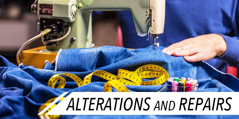 sewing machine working on clothe alterations